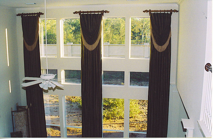 20 high treatments drapery montage for 2 story window treatments
